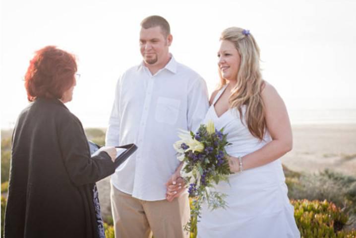 Hillside wedding