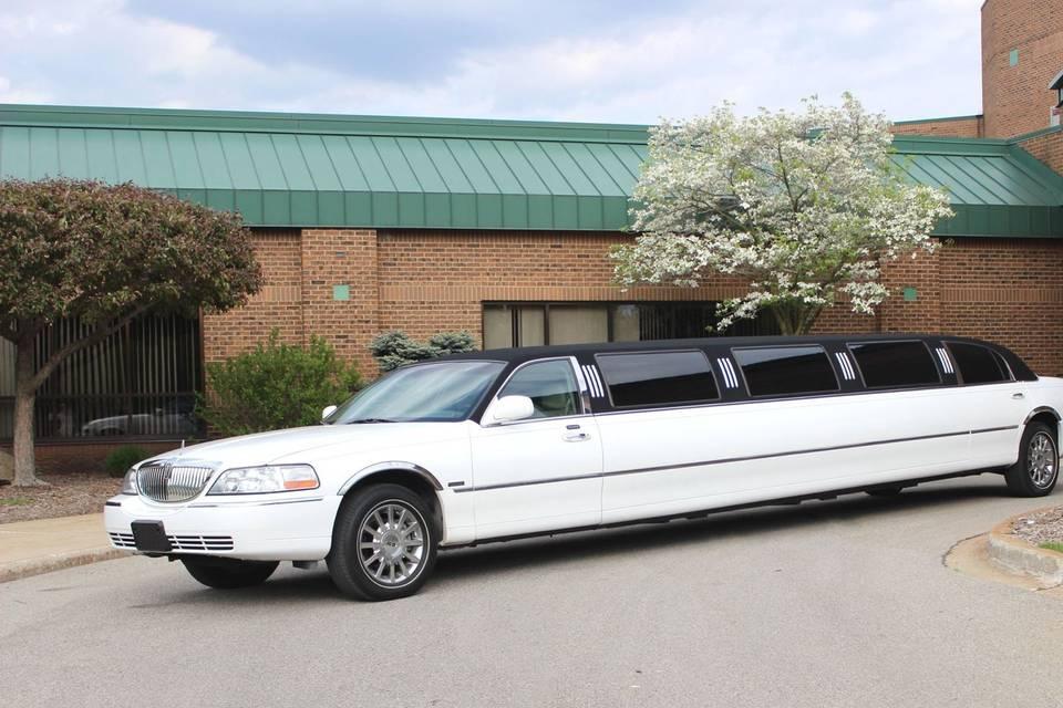 14-passenger stretch limousine