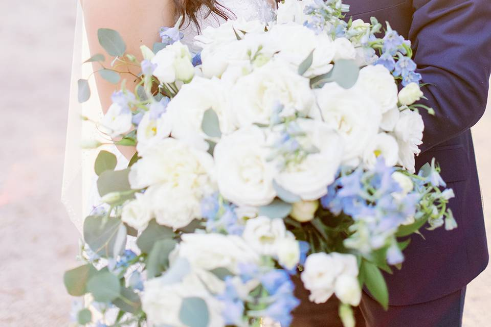 Blue Cascade Bouquet