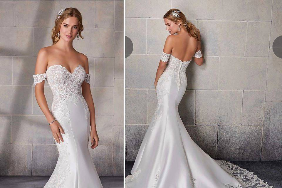 Trumpet style gown
