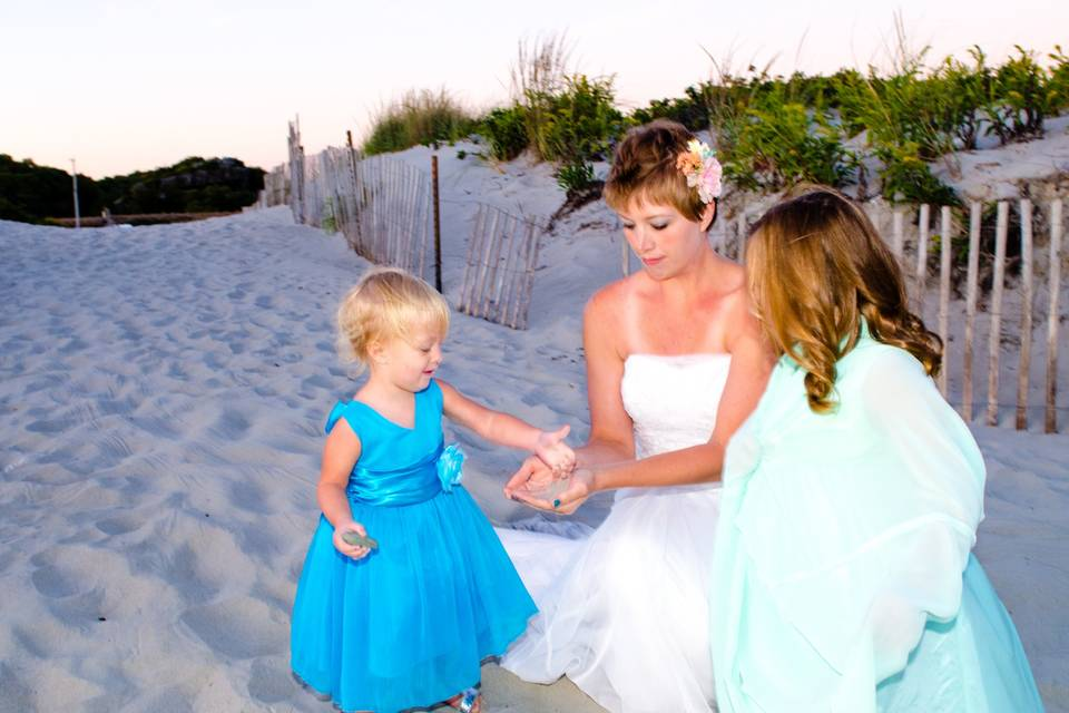 Second Beach wedding with kids