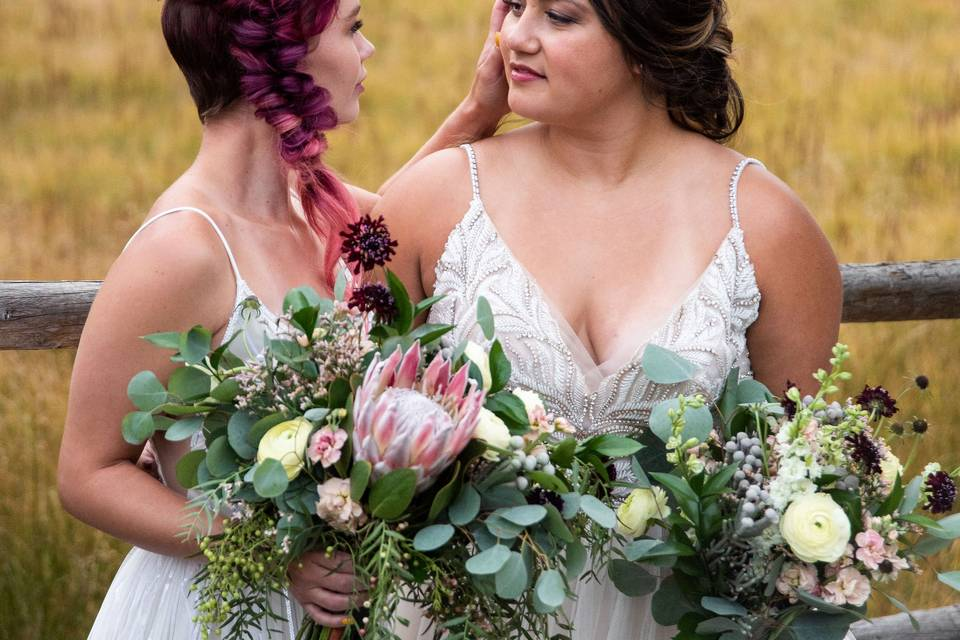 Complimentary bouquets