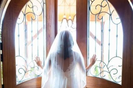 Bride entering
