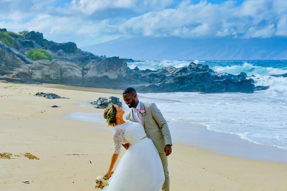 Married couple in Maui, Hawaii