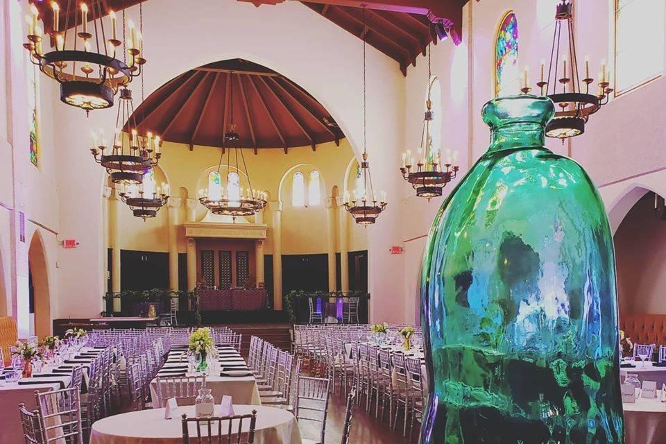 Light in Tower Ballroom