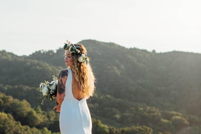 Bride in Sunlight Hills