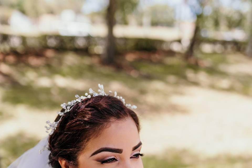 A bridal beauty