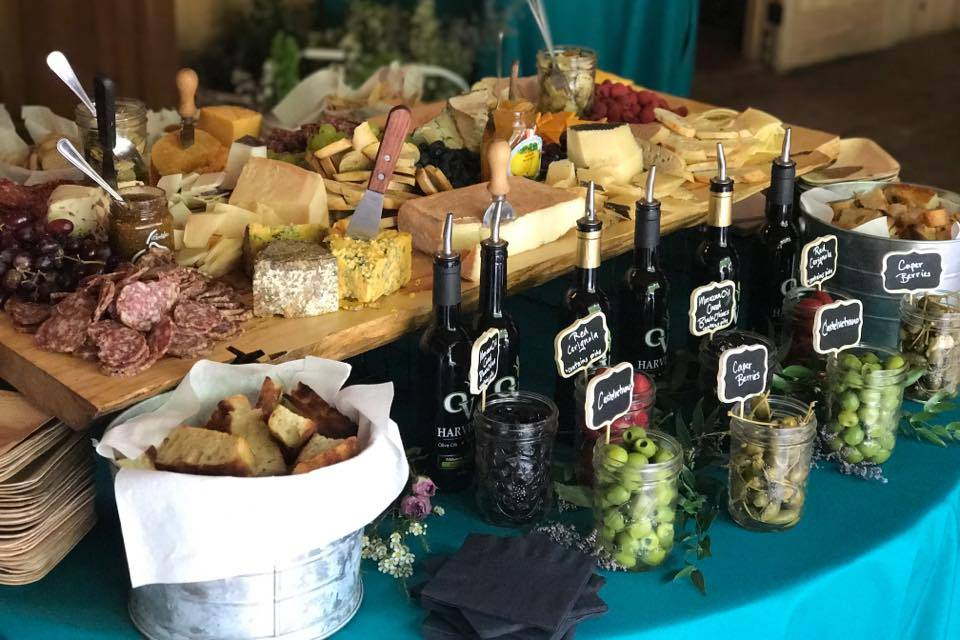 Tempting cheese board