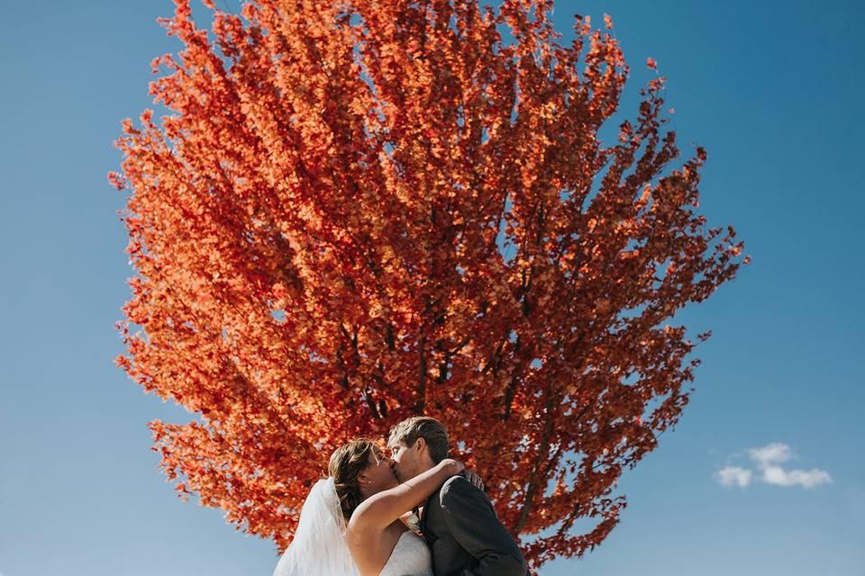 Autumn wedding in Des Moines