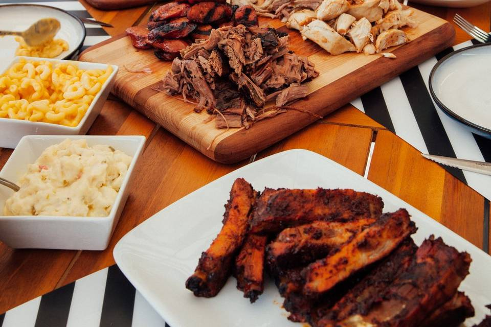 Smoked meats and sides