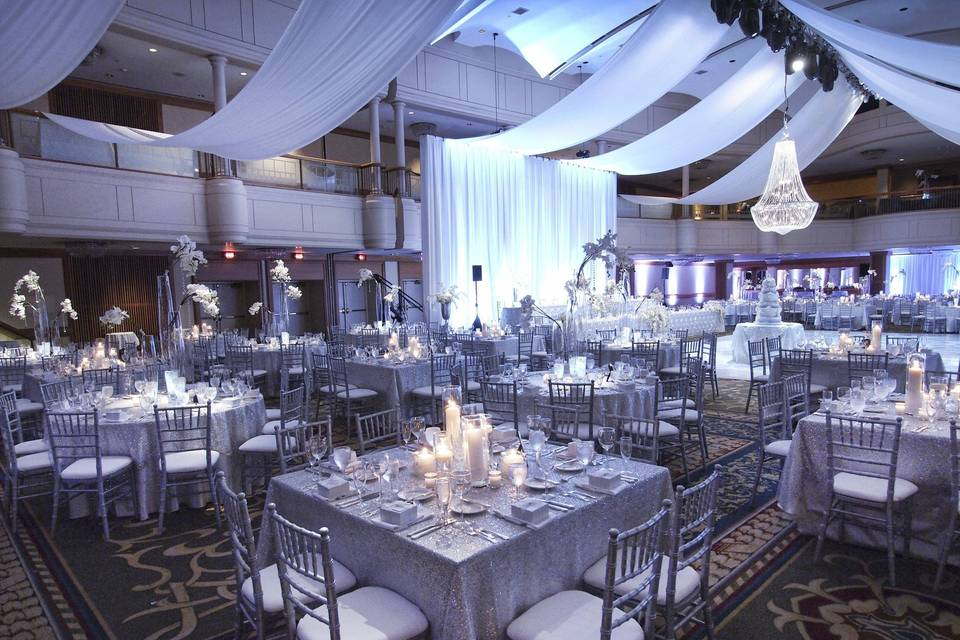 Here are some images from a Wedding we Planned/Coordinated and Decorated. Venue is the Cleveland Renaissance Hotel.