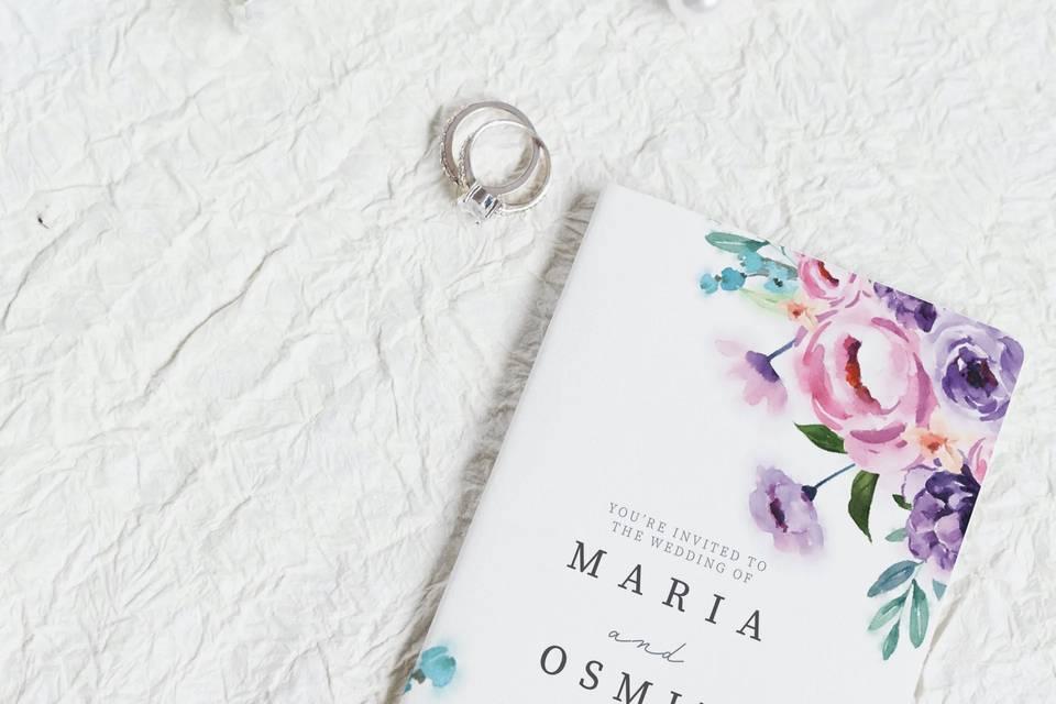 Folded Wedding Invitation
