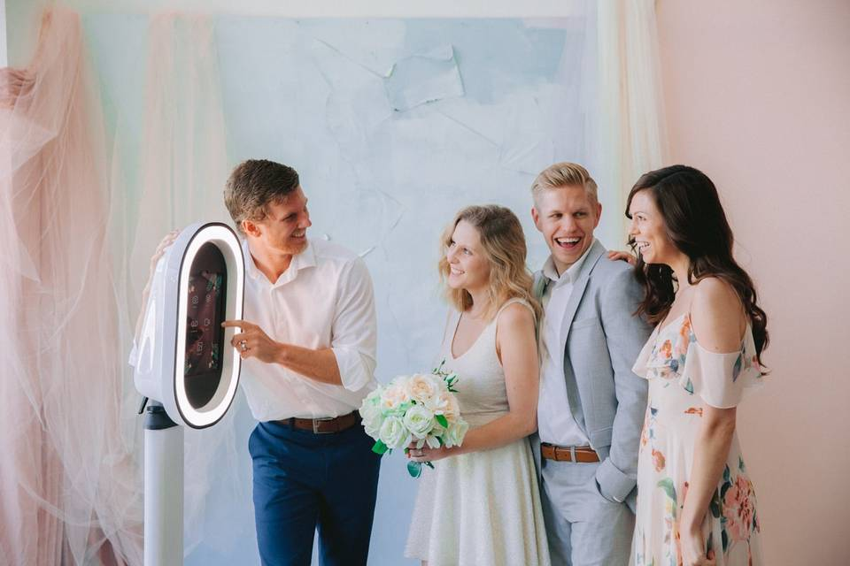 Our easy to use photo booth