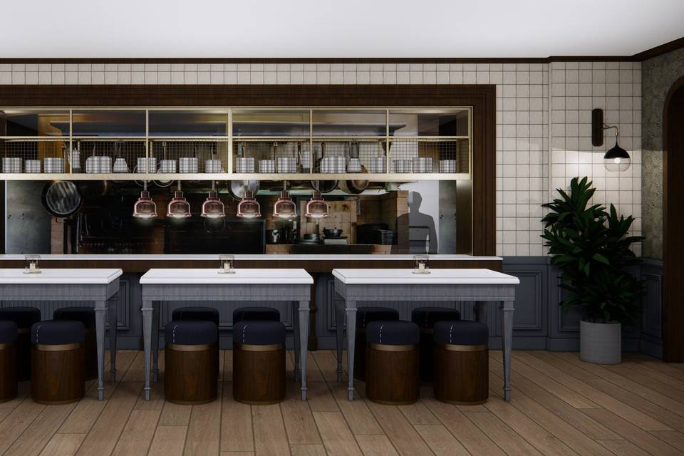 Open Kitchen w/Chef's Tables