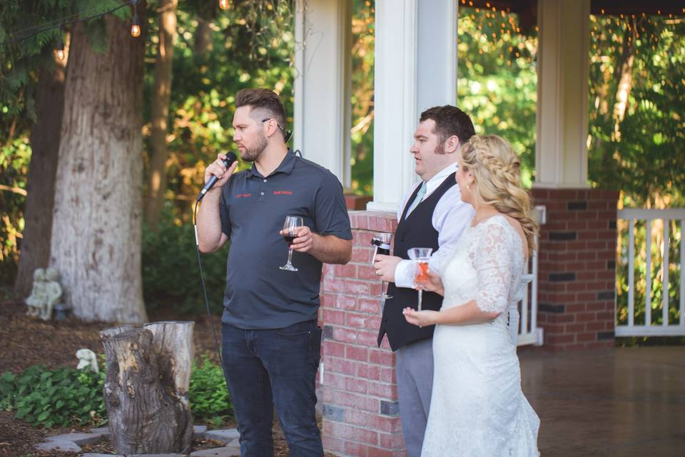 MC for toasts and events