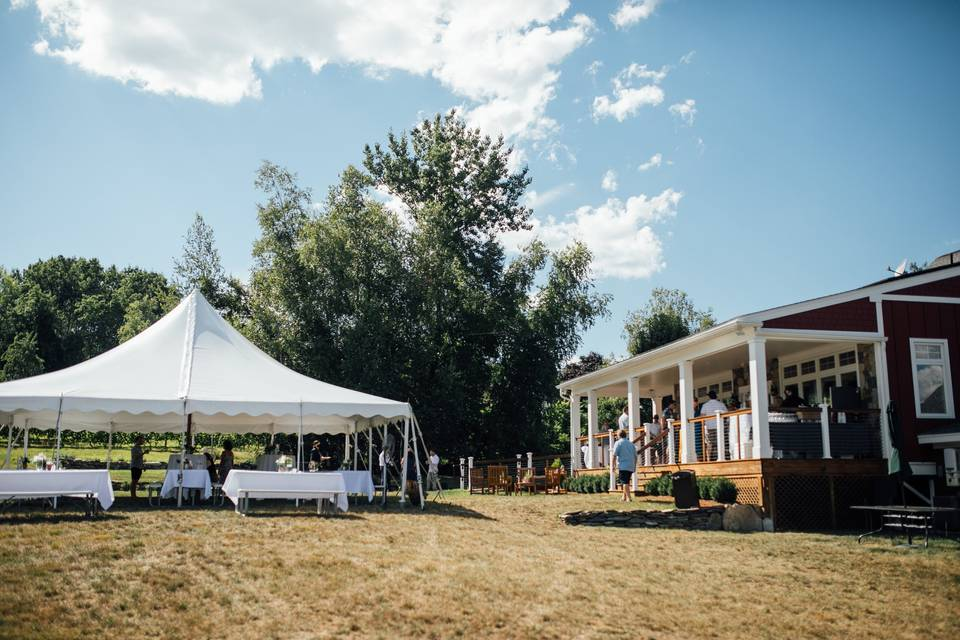 Tent for reception