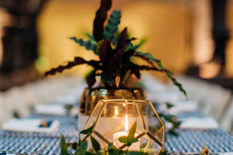 Head Table Candlelight