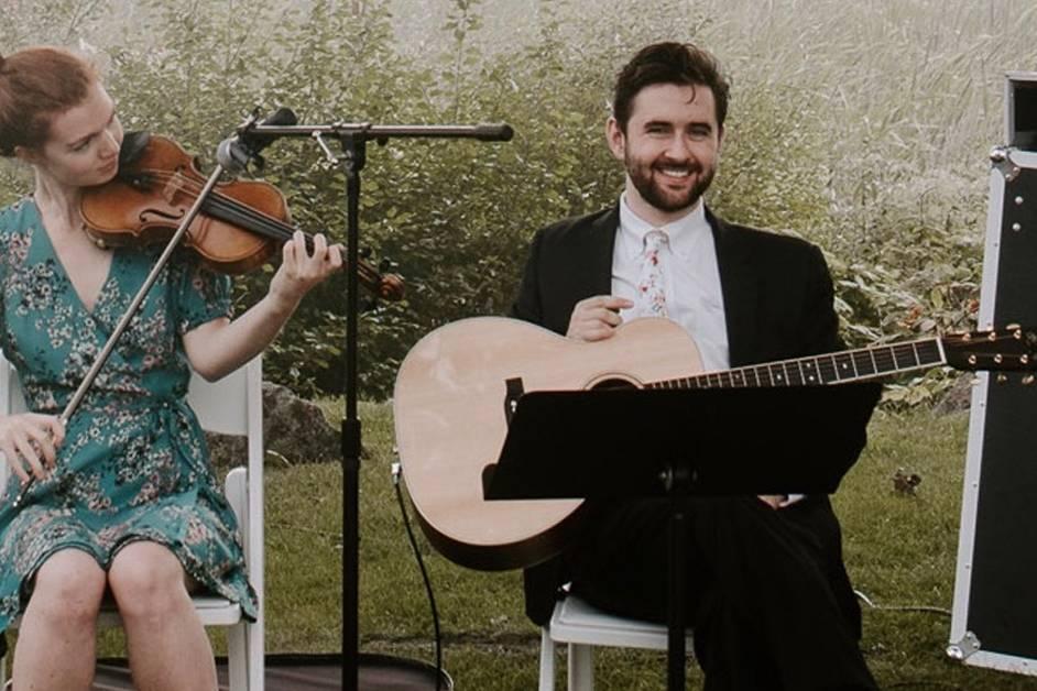 Mike Dunbar and Emily Garcia