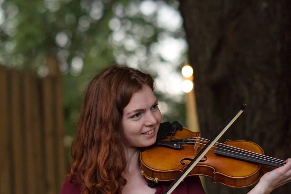 Emily Garcia plays the violin
