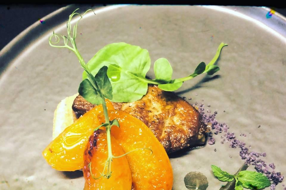Foie gras with apricots