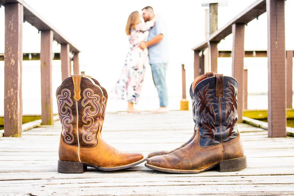 Boots on the pier