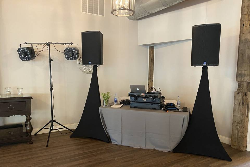 PA system and sound-active light