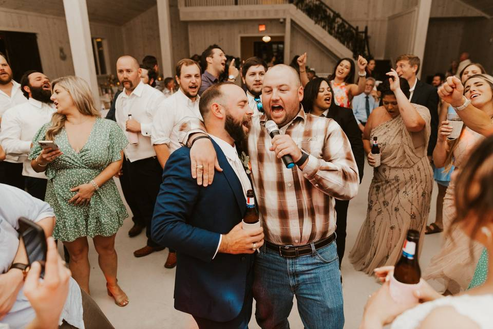 The Groom steals the show!