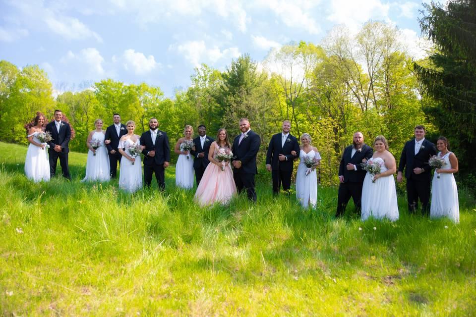 Bridal Party at Bath Hollow