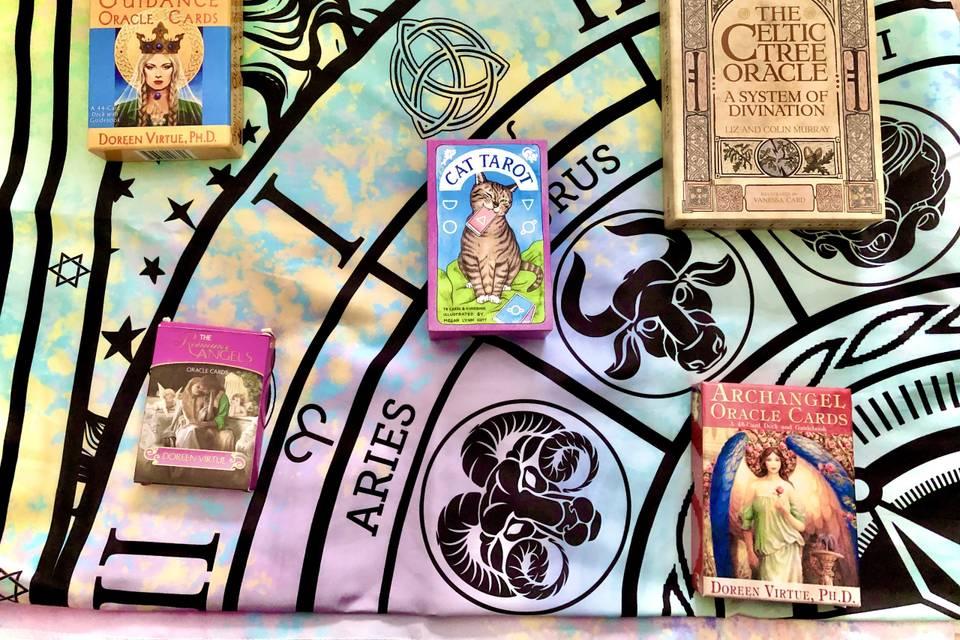 My tarot decks & oracle cards!