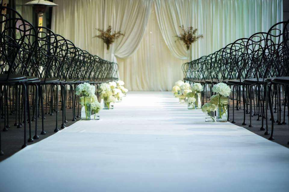 Indoor wedding set-up