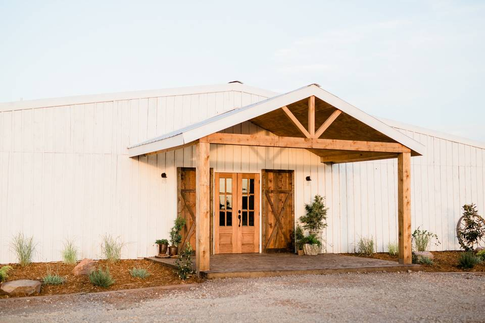 The barn entrance
