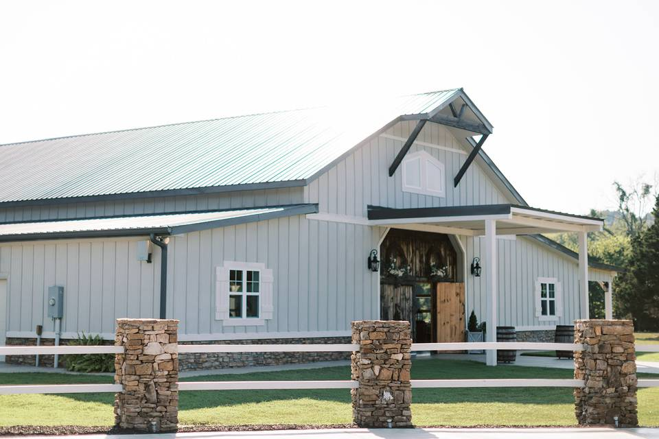 Front View of Barn