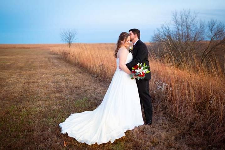 Faith and Tyler on the prairie