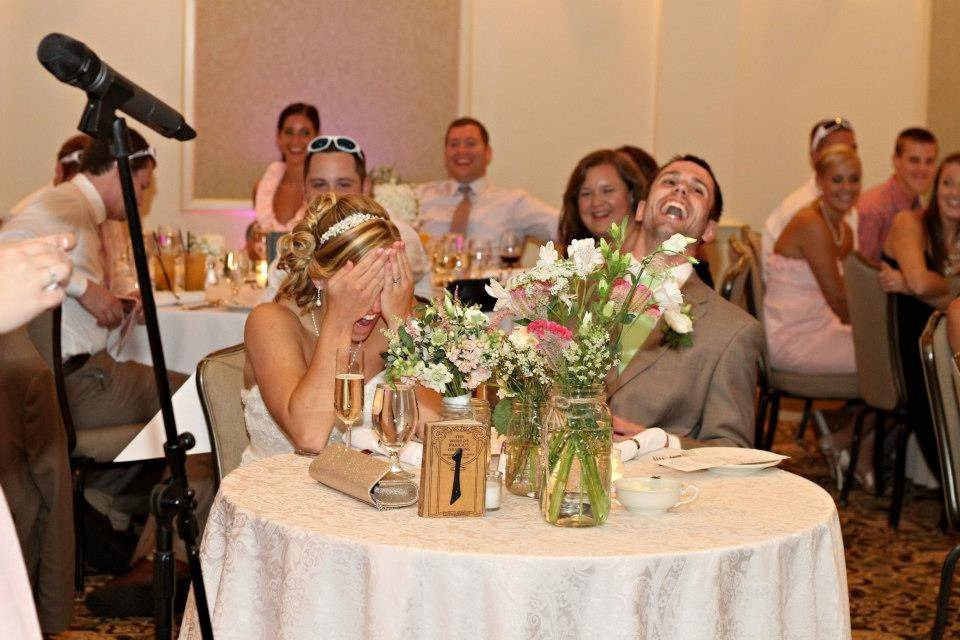 Laughing at the speech