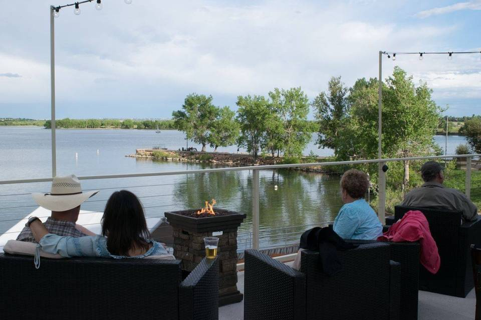 Guests enjoying the Deck