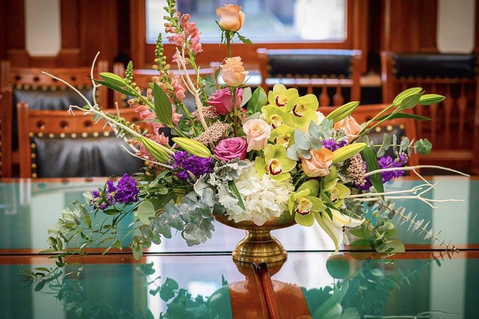 Florals at Texas Capitol