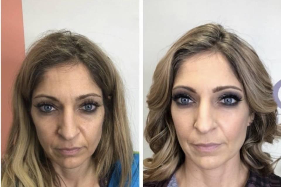 Full makeup application