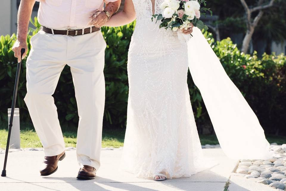 Our bride wearing muse dress