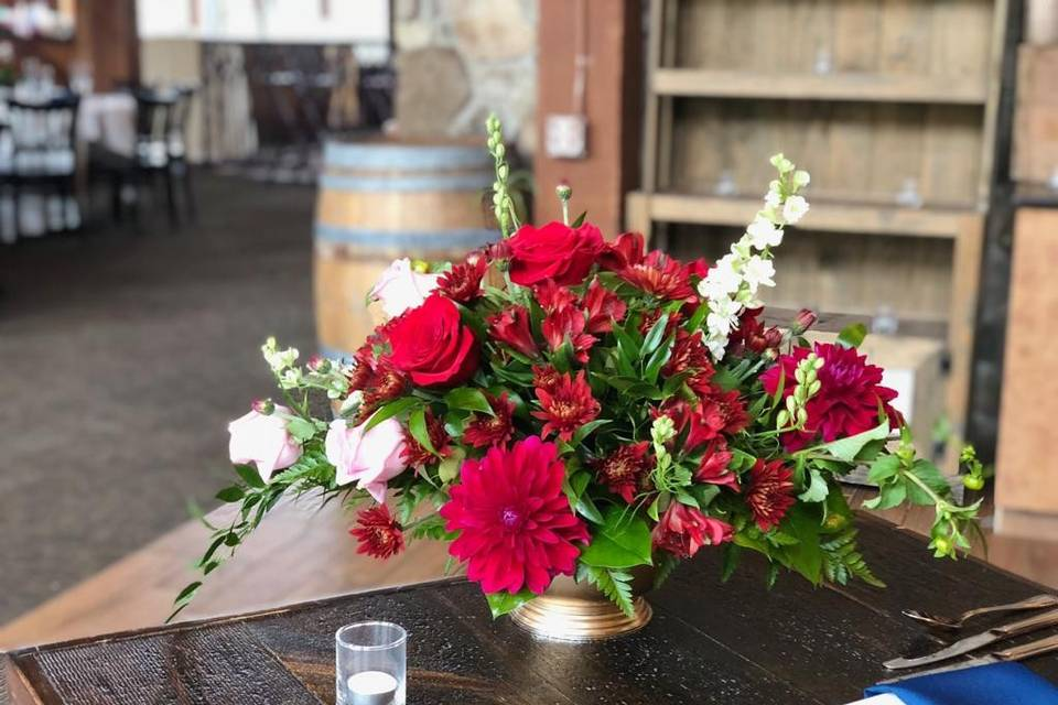 Red Themed Centerpiece