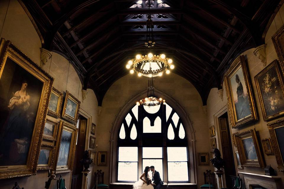 Lyndhurst Castle Wedding Photo