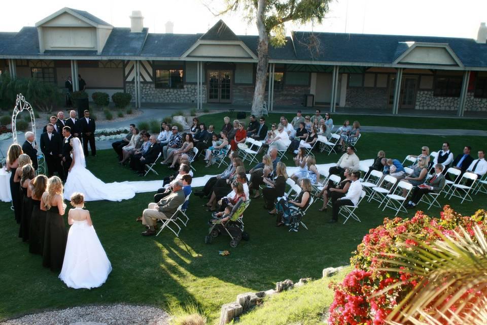 Courtyard Fountain Ceremony