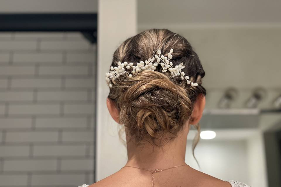 Up do with pearls