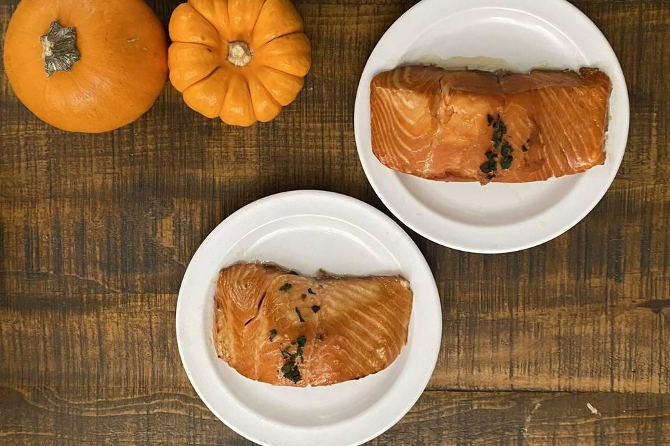 Sweet Bourbon Salmon