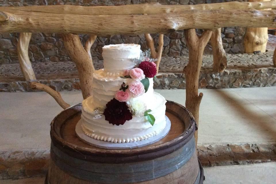 Classic three-tier cake