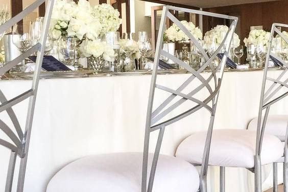Silver fanfare chairs