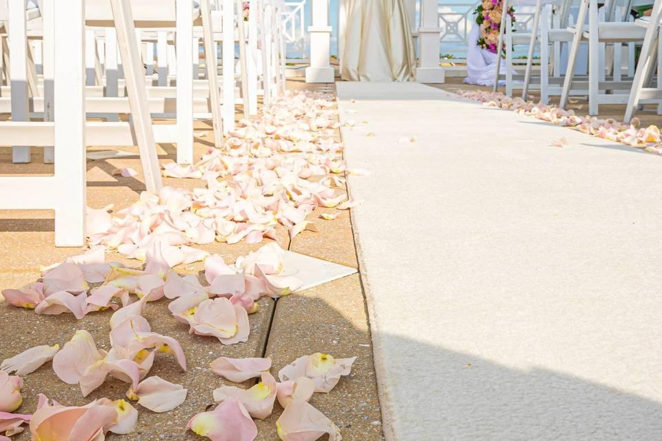 Ceremony Runner on Terrace