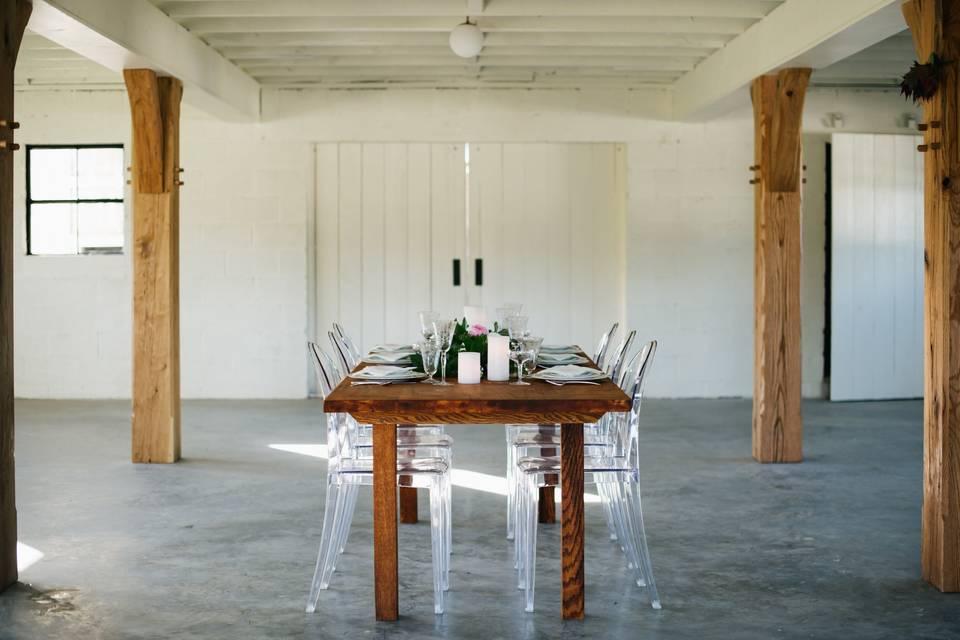 Farm table in Parlor