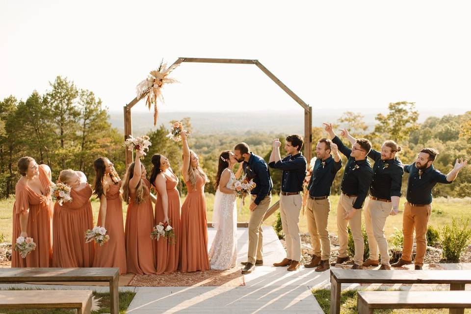 Bouquets and backdrops