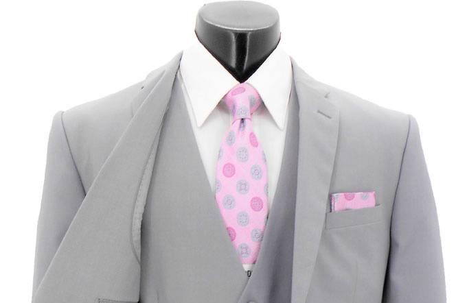Dove grey wedding suit