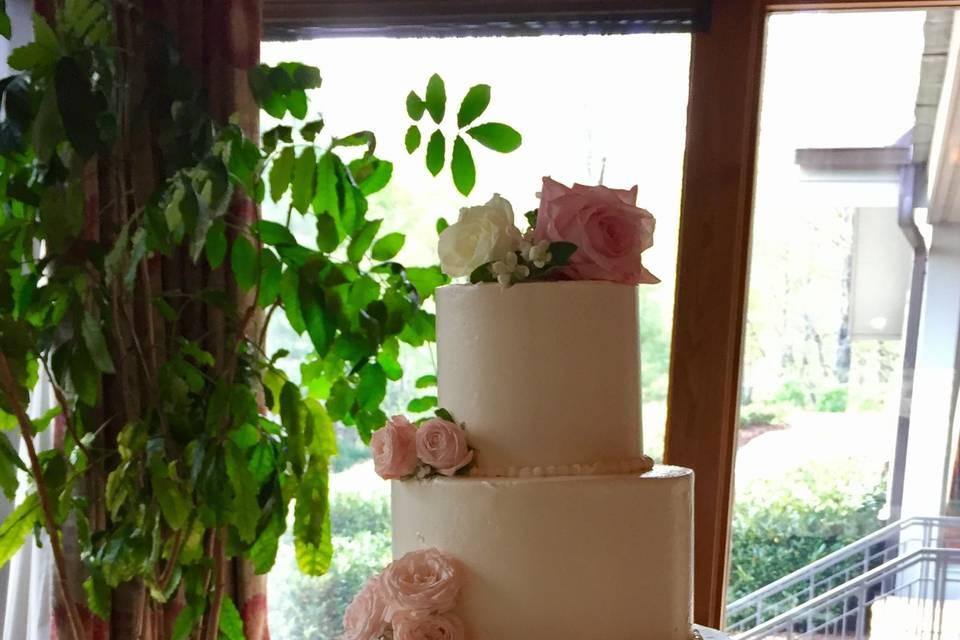 Peach rose flower decorations